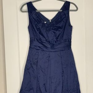 Navy A-Line Party Dress